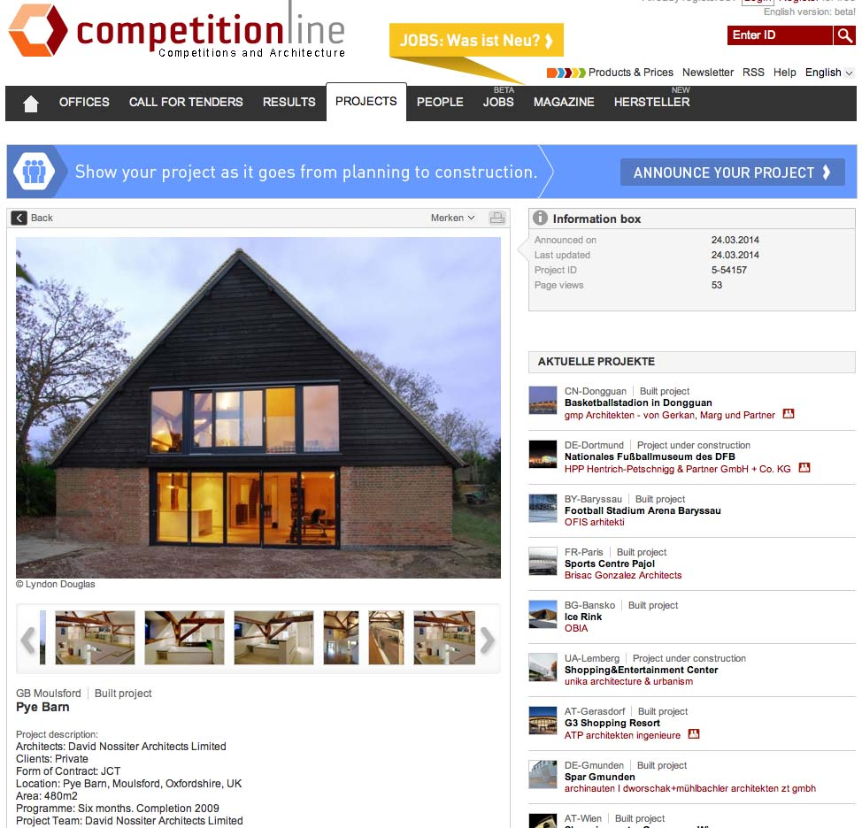 Pye barn Competitionline